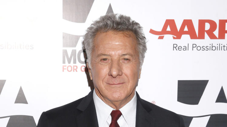 IMAGE DISTRIBUTED FOR AARP THE MAGAZINE - Dustin Hoffman attends AARP The Magazine's 12th Annual Movies for Grownups Awards at The Peninsula Hotel on Tuesday, Feb. 12, 2013 in Beverly Hills, Calif. (Photo by Todd Williamson/Invision for AARP Magazine/AP Images)
