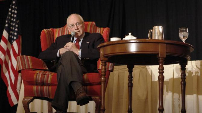 Former Vice President Dick Cheney speaks at the Wyoming Republican state convention at the Little America Hotel and Resort in Cheyenne, Wyo. Saturday, April 14, 2012.  Former Vice President Dick Cheney walked onstage without any assistance and spoke for an hour and 15 minutes without seeming to tire in his first public engagement since he underwent a heart transplant three weeks ago.(AP Photo/Wyoming Tribune Eagle, Miranda Grubbs)
