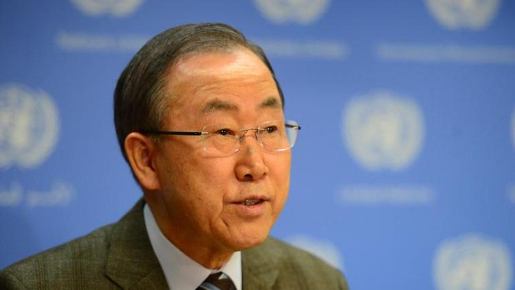 UN Secretary-General Ban Ki-moon makes an announcement at the UN headquarters in New York on January 19, 2014