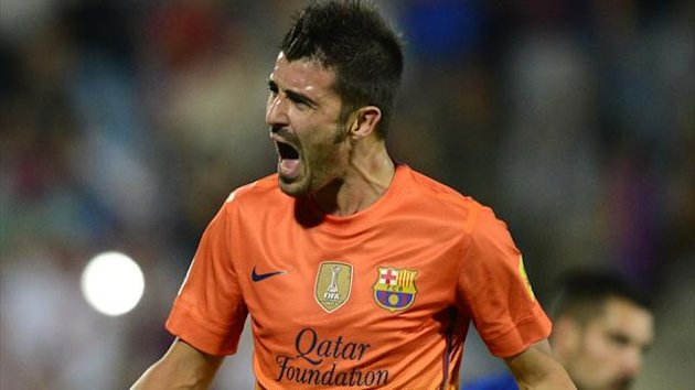 David Villa Barcelone