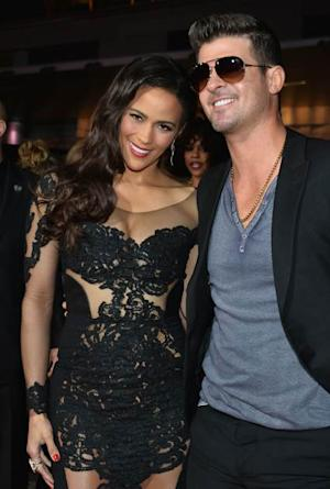 Paula Patton, Robin Thicke -- Getty Images