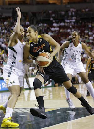 Thompson leads Storm over Shock, 85-73