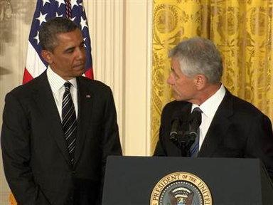 Obama Prepares for  Hagel Nomination Fight