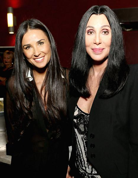 Demi Moore Poses With Cher: See How They've Barely Aged Since 1996