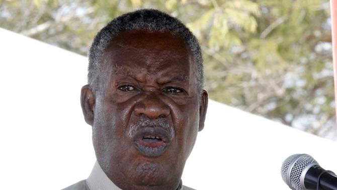 Zambia President Michael Sata delivers a speech on May 17, 2013 in Chongwe