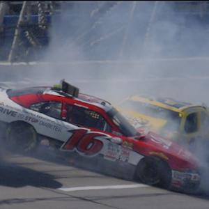 Red flag after huge crash coming to pit road