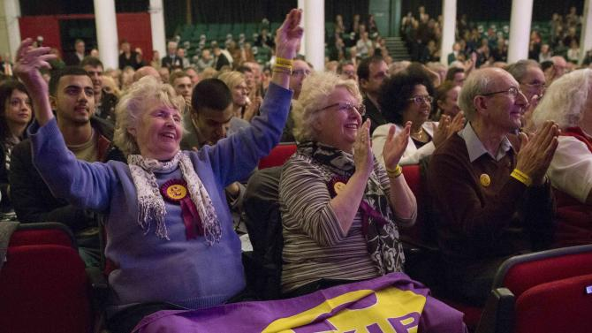 Delegates applaud during the UK Independence Party spring conference in Margate
