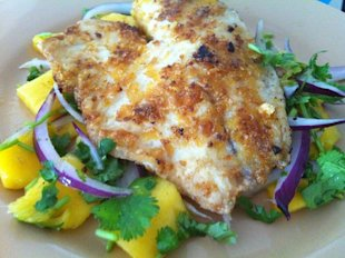 Cilantro &amp; mango tilapia