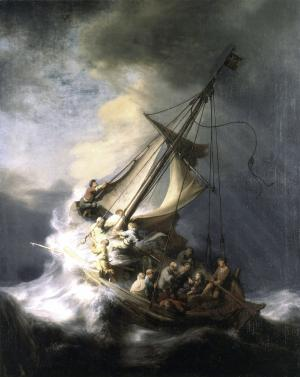 "FILE - In this undated photograph released by the Isabella Stewart Gardner Museum shows the painting ""The Storm on the Sea of Galilee"" by Rembrandt, one of more than a dozen works of art burglars stole during a 1990 heist in Boston. A Rotterdam museum art heist this week netted paintings by Pablo Picasso, Claude Monet, Henri Matisse and others — but it's not the first time that money-conscious thieves with an eye for beauty have targeted famous multimillion-dollar canvasses. (AP Photo/Isabella Stewart Gardner Museum, File)"