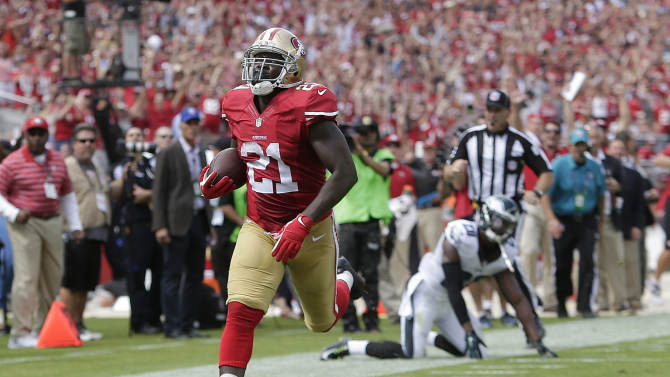 Gore powers 49ers past Eagles to avoid 3-game skid