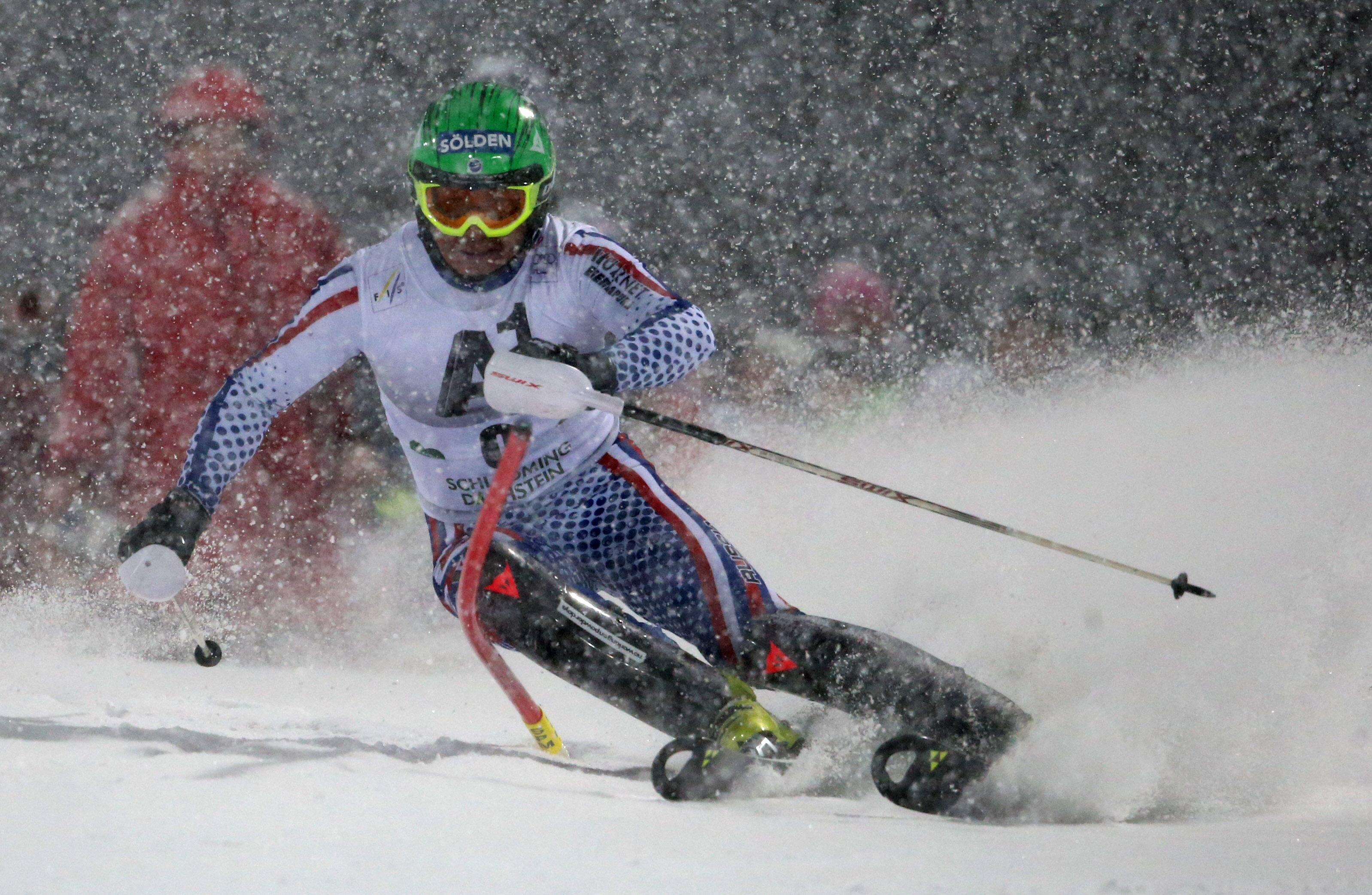 Russian skier Khoroshilov wins WCup slalom by huge margin