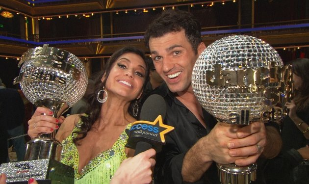 Melissa Rycroft and Tony Dovolani celebrate their 'Dancing with the Stars: All-Stars