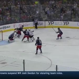 Curtis McElhinney Save on Patrice Bergeron (05:42/1st)