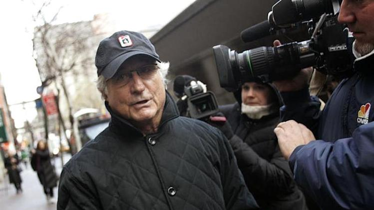 Bernard Madoff walks back to his apartment in New York