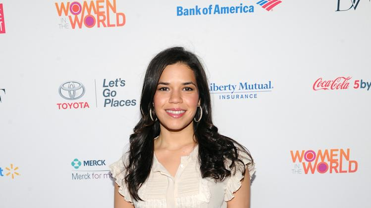 Actress America Ferrera attends the 4th Annual Women in the World Summit at the David H. Koch Theater on Thursday April 4, 2013 in New York. (Photo by Evan Agostini/Invision/AP)