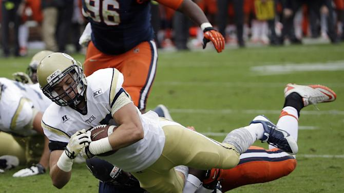 Georgia Tech ends skid with 56-0 rout of Syracuse