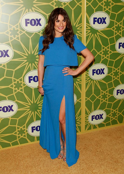 "Lea Michele (""Glee"") attends the 2012 Fox Winter TCA All-Star Party at Castle Green on January 8, 2012 in Pasadena, California."