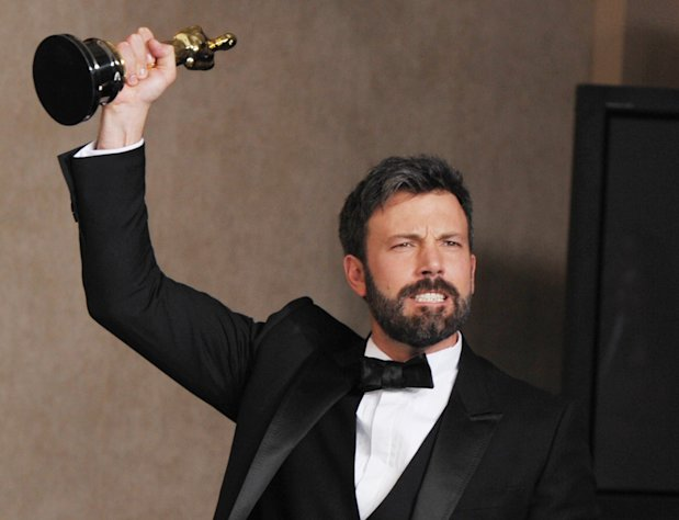 Ben Affleck poses with his award for best picture for &quot;Argo&quot; during at the Oscars at the Dolby Theatre on Sunday Feb. 24, 2013, in Los Angeles. (Photo by John Shearer/Invision/AP)