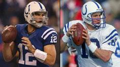 Luck on par with Manning