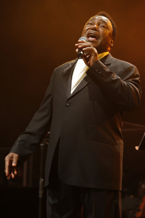 Singer George Benson performs during the 12th Mawazine World Rhythms International Music Festival in Rabat