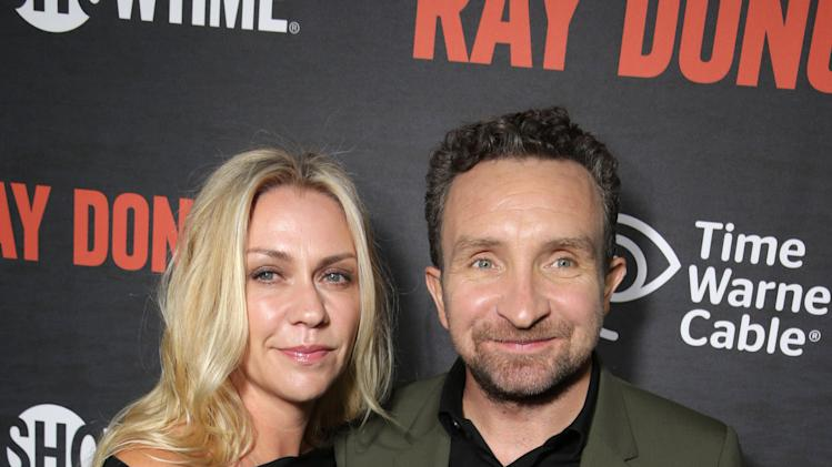 Janine Schneider-Marsan and Eddie Marsan pictured at SHOWTIME and Time Warner Cable's Ray Donovan Season 2 premiere on Wednesday, July 9 at Nobu in Malibu, Calif. (Photo by Eric Charbonneau/Invision for Showtime/AP Images)
