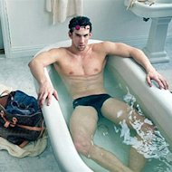 The most successful Olympian ever, Micheal Phelps, nearly reveals all as he makes his modelling debut