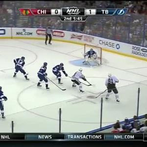 Ben Bishop Save on Jonathan Toews (14:18/2nd)