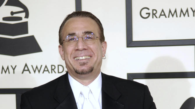 FILE - In this Feb. 10, 2008 file photo, Latin jazz musician Bobby Sanabria arrives at the 50th Annual Grammy Awards in Los Angeles. Sanabria, who led the protest against the Recording Academy when it downsized from 109 to 78 categories last year, is nominated for best Latin jazz album _ one of the awards that had been eliminated, but returns at the awards show in 2013. (AP Photo/Chris Pizzello, File)