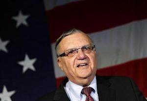 Maricopa County Sheriff Joe Arpaio speaks during the Republican Party election night event in Phoenix, Arizona