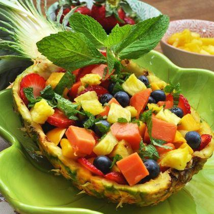 Pineapple Boat Fruit Salad