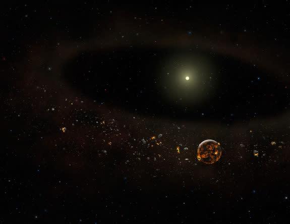 Vanishing Dust Belt Around Star Baffles Scientists