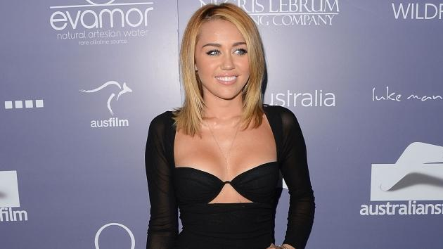 Miley Cyrus steps out at the 8th Annual Australians In Film Breakthrough Awards & Benefit Dinner at InterContinental Hotel in Century City, Calif. on June 27, 2012 -- Getty Images