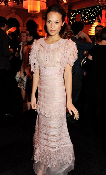 Vikander at the Moet British Independent Film Awards, December 2012