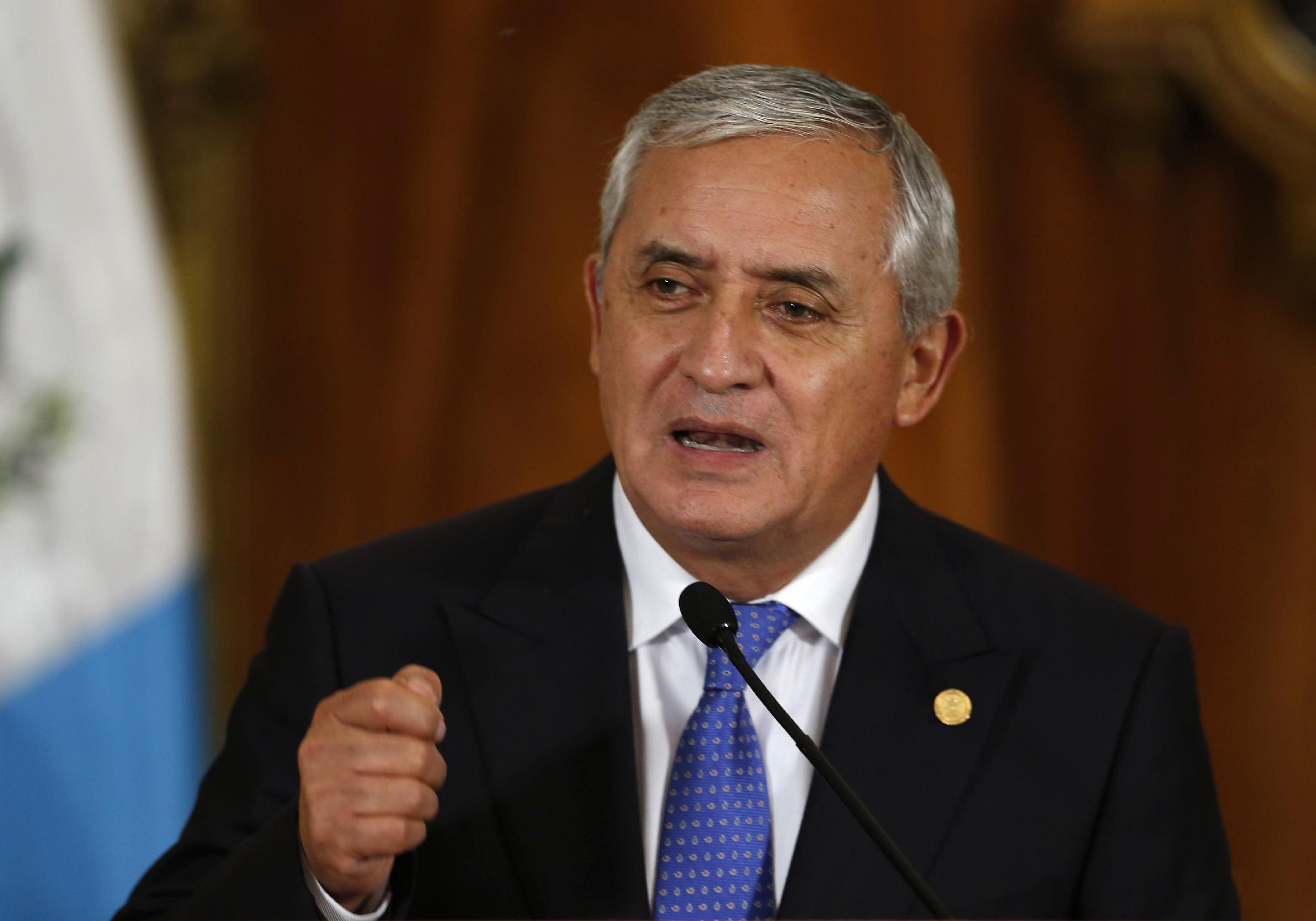 Guatemalan president says he'll face due process in scandal