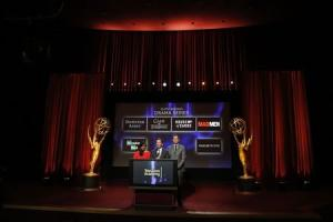 Television Academy Chairman & CEO Rosenblum, actress Kaling and television host Daly announce the nominees for Outstanding Drama Series award in North Hollywood