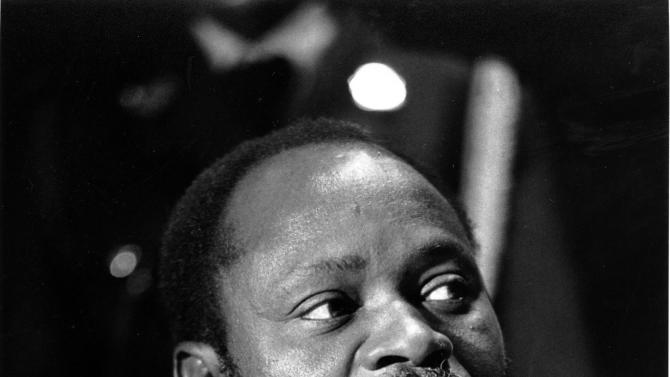 FOR STORY TO MOVE: This 1984 file photo shows the late Mozambican president Samora Machel. South African police said Wednesday Dec. 12, 2012 they've opened a new investigation into the 1986 airplane crash that killed Mozambique's Marxist president Machel, an incident that many have blamed the former apartheid government.  (AP Photo/Mark Peters-FILE)