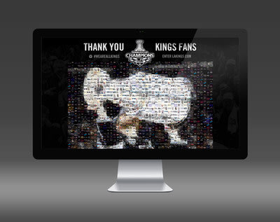 The LA Kings used the #WeAreAllKings Photo Mosaic visualization to celebrate their Stanley Cup win.