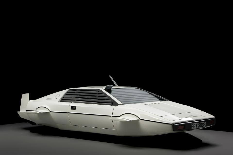 "The 007 Lotus Esprit 'Submarine Car', used in the James Bond movie ""The Spy Who Loved Me"" is pictured in this handout photo."