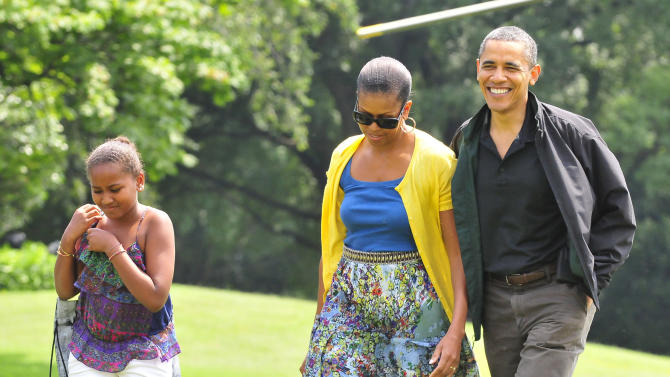 First Family Returns from Camp David