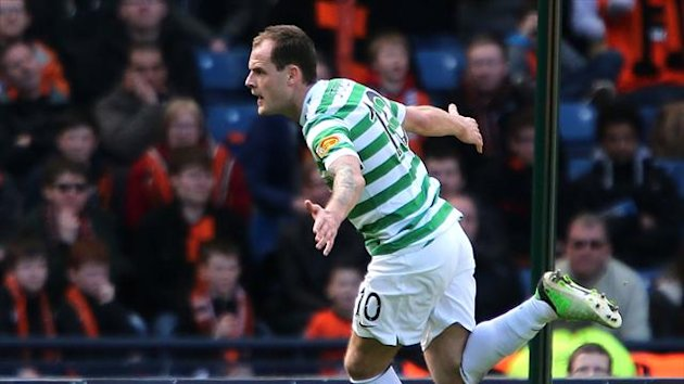 Anthony Stokes headed home an extra-time winner as Celtic reached the Scottish Cup final