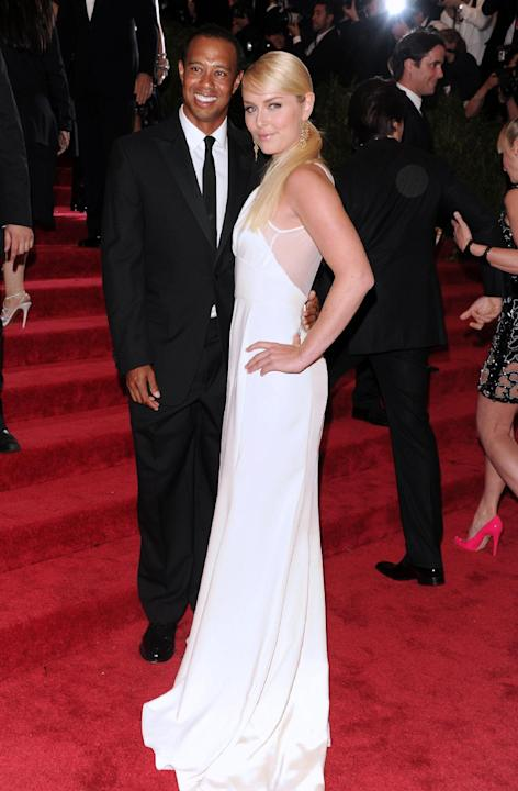 "Golfer Tiger Woods and skier Lindsey Vonn attend The Metropolitan Museum of Art's Costume Institute benefit celebrating ""PUNK: Chaos to Couture"" on Monday May 6, 2013 in New York. (Photo by Evan Agost"