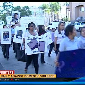 Teens rally against domestic violence