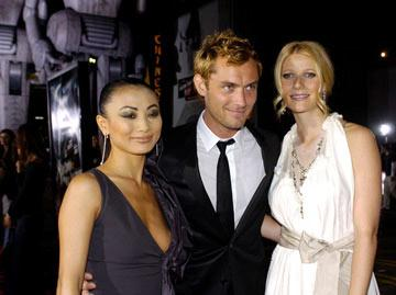 Bai Ling , Jude Law and Gwyneth Paltrow at the Hollywood premiere of Paramount Pictures' Sky Captain and the World of Tomorrow