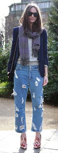 Top 13 Denim Trends For Fall 2012 DISTRESSED & DESTROYED JEANS