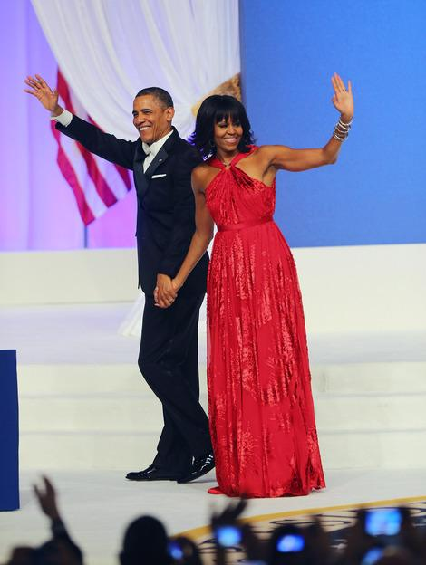 First Lady in Red: Jason Wu Designs Michelle Obama's Inaugural Ball Gown...Again