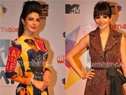 Priyanka, Anushka amaze with dramatic look at MTV music video award India 2013