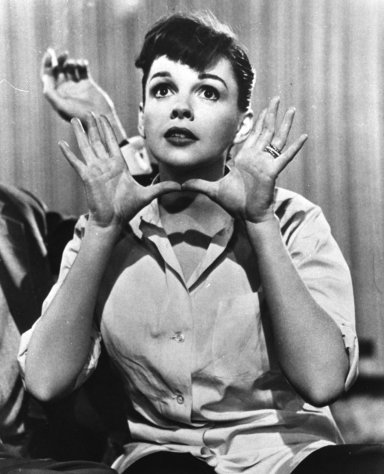 "In this undated publicity file photo, film actress and singer, Judy Garland, is shown singing the Harold Arlen-Ira Gershwin song, ""The Man Who Got Away"" in the 1954 film, ""A Star is Born."" (AP Photo, File)"