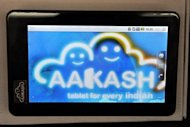 The Aakash-2 computer tablet at the Indian Institute of Technology (IIT) campus in Mumbai. The makers of the low-cost Aakash tablet have denied media reports that the computer was a cheap Chinese import and not an Indian innovation