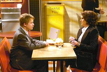 Macaulay Culkin and Megan Mullally on NBC's Will and Grace