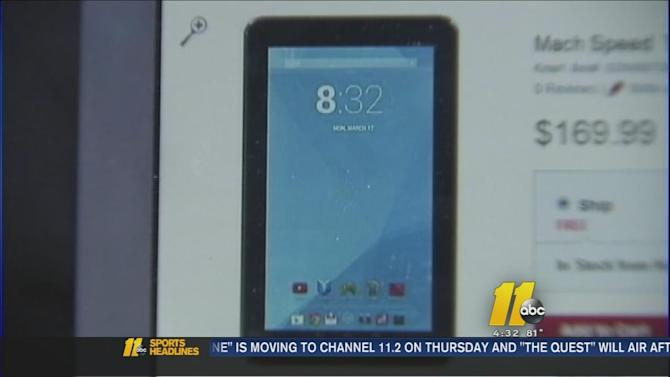 Mother says child porn found on new tablet purchased at North Carolina Kmart